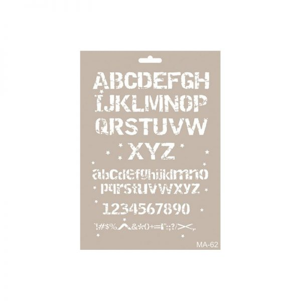 cadence stencil mix media letras distress 1