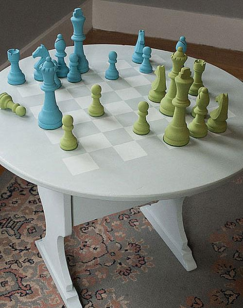 decoart chalky chess board and pieces