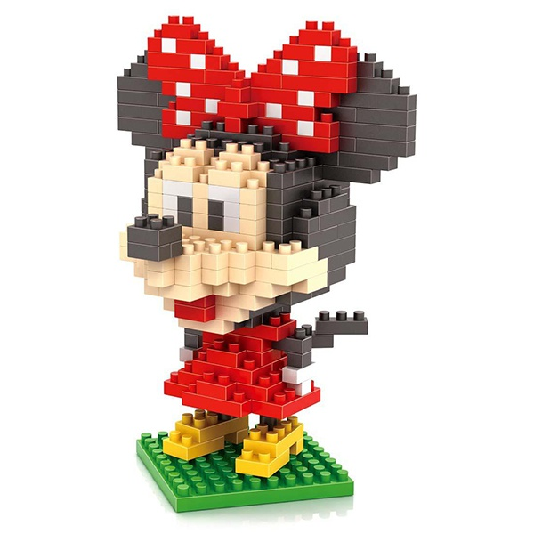dismoer LOZ 9414 minie mouse diamond blocks minifigura
