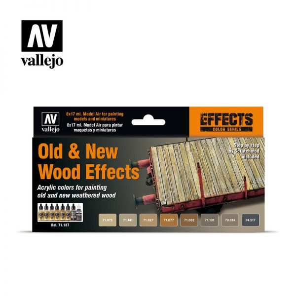 vallejo old and new wood effects 71187 vallejo model air effects set