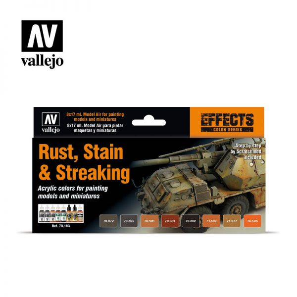vallejo rust stain and streaking 70183 vallejo effects set