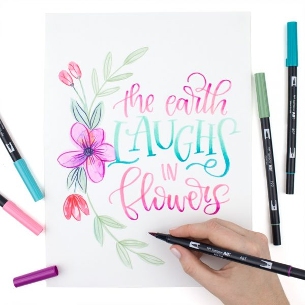 tombow ABT Watercolor Lettering Quote