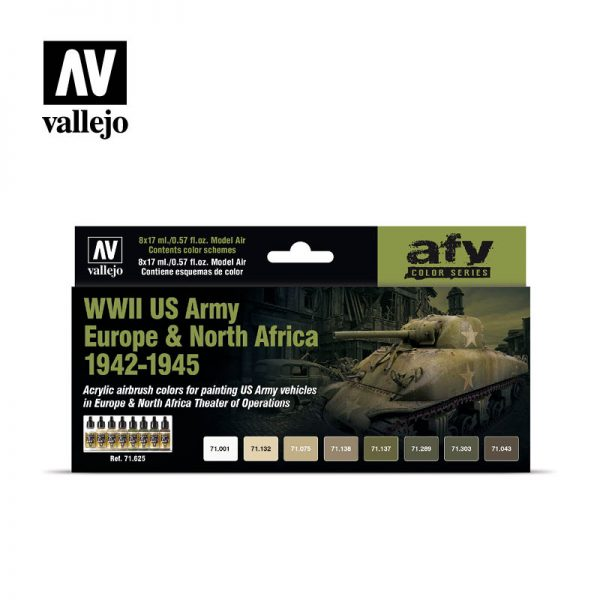 vallejo WWII US Army Europe North Africa 1942 1945 vallejo afv 71625