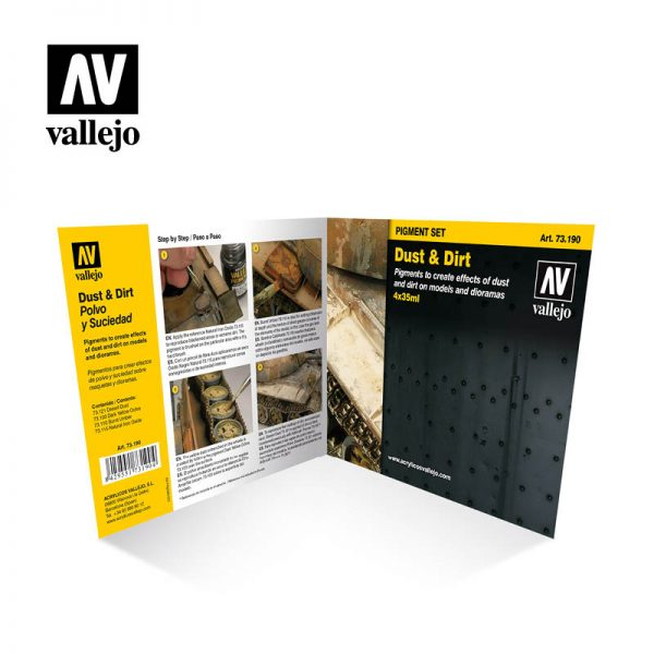 vallejo dust and dirt vallejo pigments set 73190 back