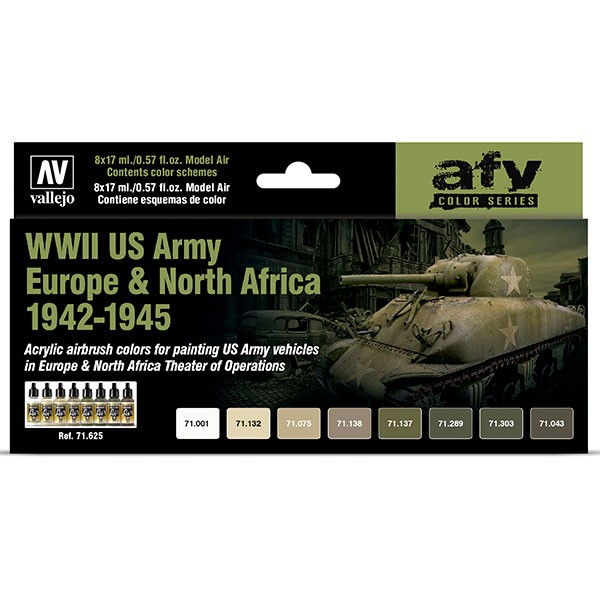 vallejo set 8 wwii us army europe north africa