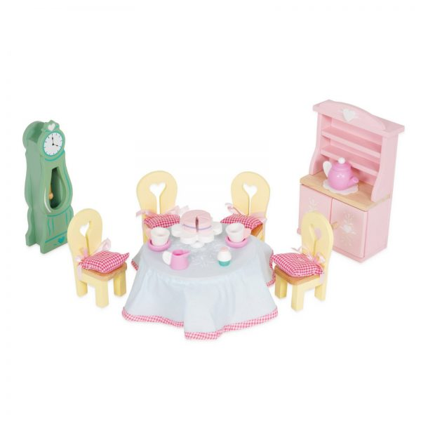 letoyvan ME056 Daisylane Drawing Room Dining Table Tea Cake Doll House Furniture