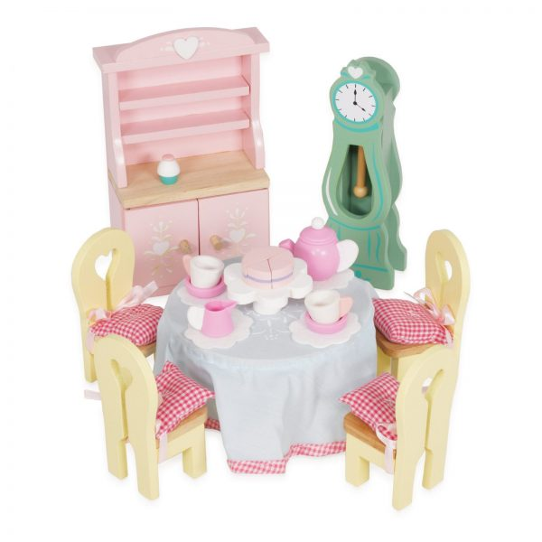 letoyvan ME056 Daisylane Drawing Room Grandfather Clock Dining Table Dresser wooden toy