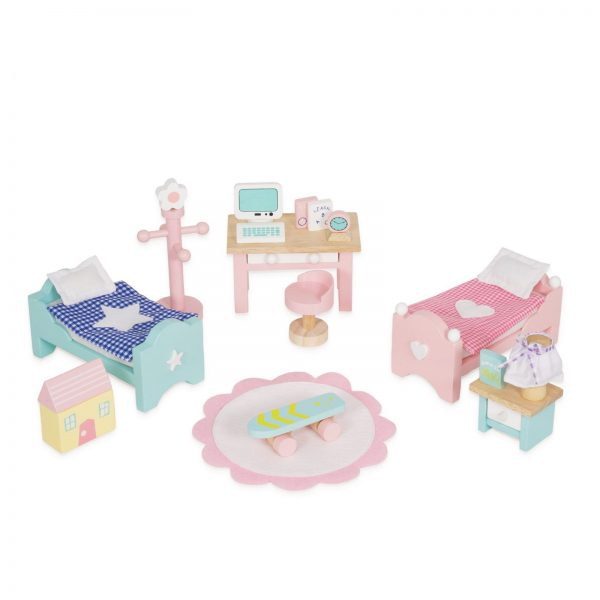 letoyvan ME061 Daisylane Childrens Room Desk Beds Dollhouse Wooden Toy