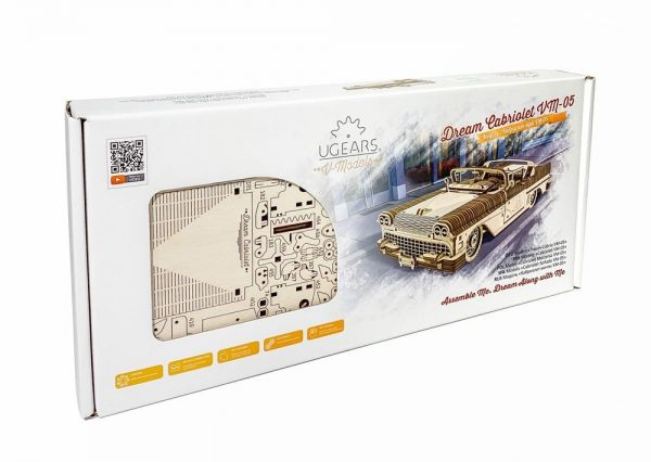 Ugears Dream Cabriolet VM 05 mechanical model kit Package Face max 1100