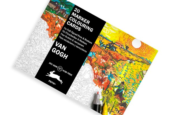 pepin colouring markers postcards vangogh 600x400 1