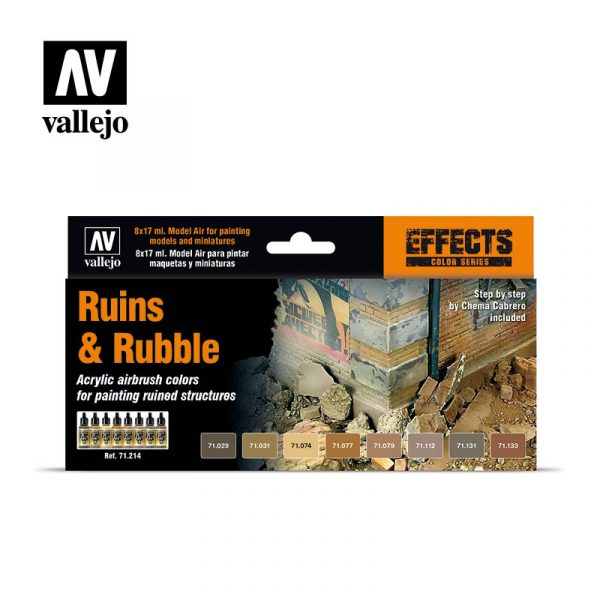 vallejo ruins and rubble vallejo effects set 71214 1
