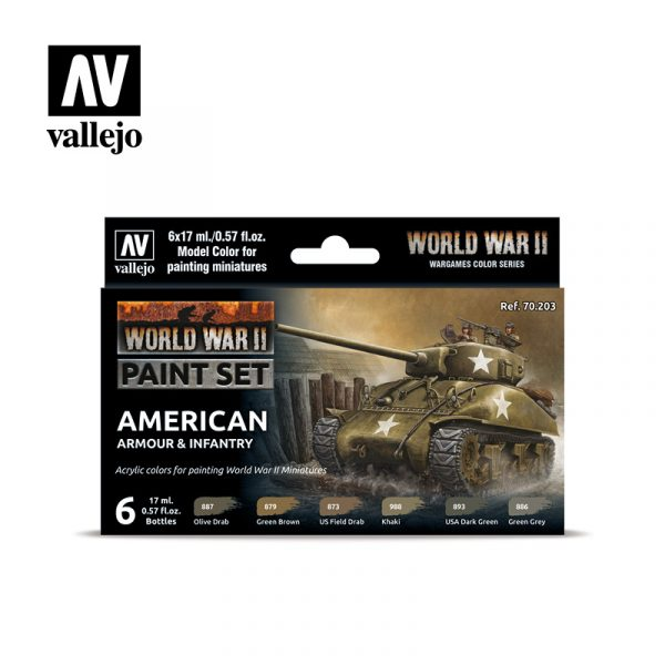 vallejo wargames wwii american armour infantry 70203 front