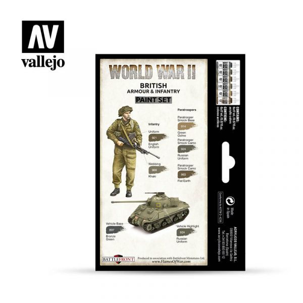 vallejo wargames wwii british armour infantry 70204 back
