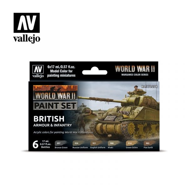 vallejo wargames wwii british armour infantry 70204 front